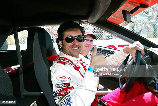 Celebrity race car driver actor Patrick Dempsey attends the 29th Annual Toyota Pro/Celebrity Race at the Toyota Grand Prix of Long Beach on April 9...