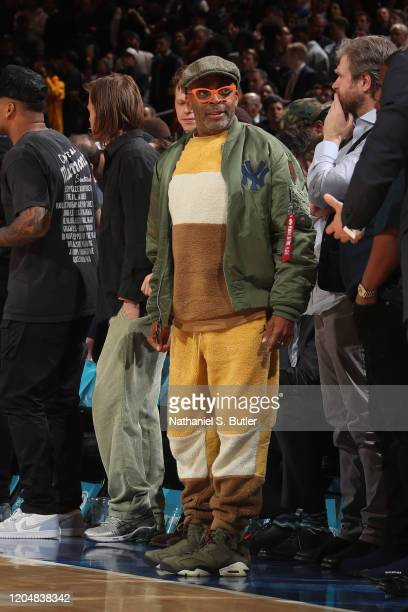 Celebrity Spike Lee attends a game between the Houston Rockets and the New York Knicks on March 2 2020 at Madison Square Garden in New York City New...