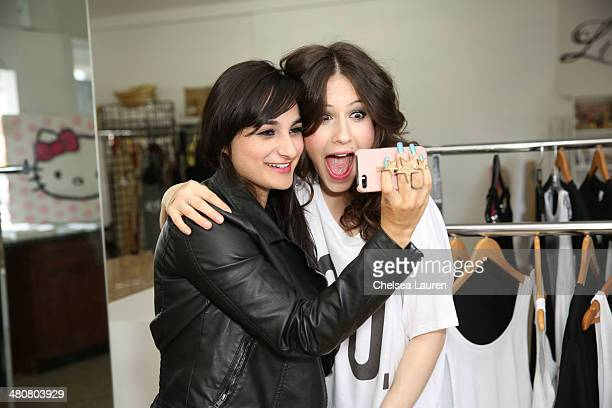 Celebrity stylist Jazmin Whitley and actress Erin Sanders are seen at Jasmin's studio on March 26 2014 in Los Angeles California