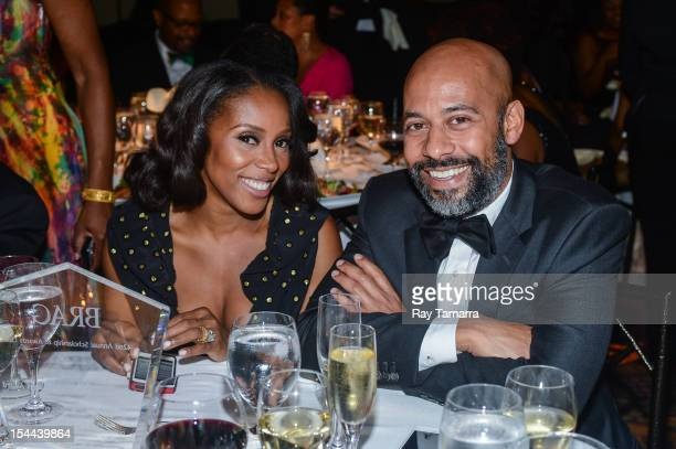 Celebrity stylist June Ambrose and Marc Chamblin attend the BRAG 42nd annual Scholarship and Awards gala at Pier 60 on October 19 2012 in New York...