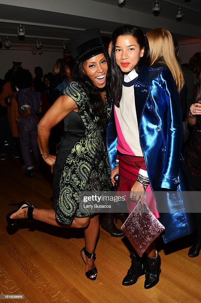 Celebrity stylist June Ambrose (L) attends the after party following the premiere of the HBO Documentary Film 'Beyonce: Life Is But A Dream' at Christie's on February 12, 2013 in New York City.