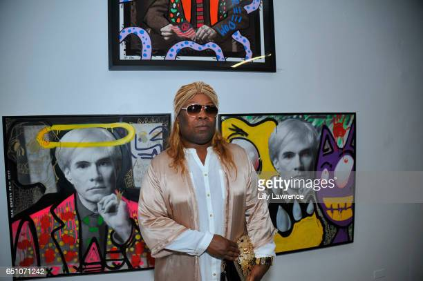 Celebrity stylist Sir Joe Exclusive attends Karen Bystedt's 'Kings And Queens' exhibition on March 9 2017 in Los Angeles California