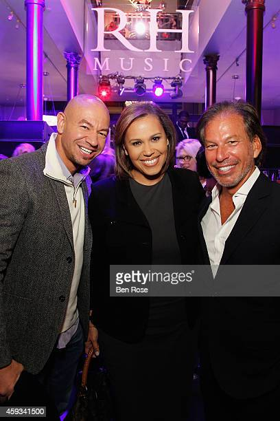 Celebrity trainer and TV personality David Buer TV Anchor Jovita Moore and Chairman and CEO of Restoration Hardware Gary Friedman attend the RH...