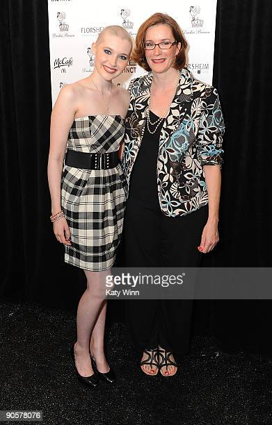 Celebrity trainer Ashley Conrad and her mother Gail Conrad attends the AXE Instinct Sponsored Duckie Brown Spring 2010 Fashion Show at Bryant Park on...