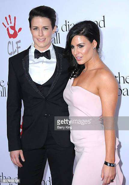 Celebrity Trainer Jamie Granger and guest attend the Rihanna And The Clara Lionel Foundation 2nd Annual Diamond Ball at The Barker Hanger on December...