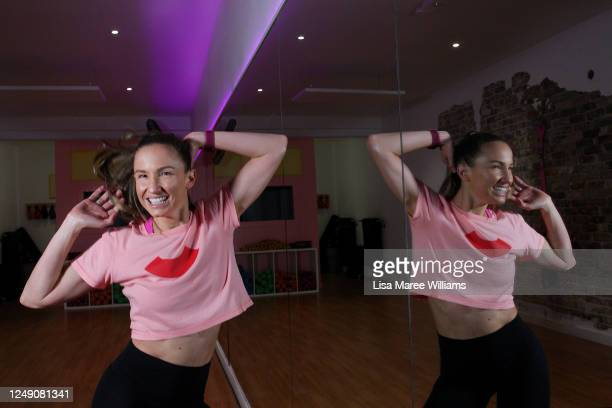 Celebrity trainer Libby Babet is seen preparing to reopen her Bondi training studio 'The Upbeat' to the public on June 12, 2020 in Sydney, Australia....