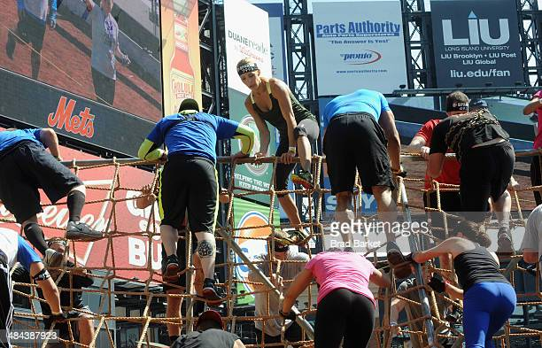 Celebrity trainers Chris Powell and Heidi Powell take on the Reebok Spartan  Race in at Citi b0239f864