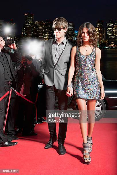 celebrity walking on red carpet - celebrity see through clothes stock photos and pictures