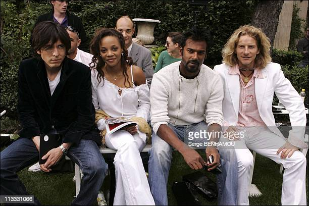 Celebs At Francesco Smalto Spring Summer 2006 Fashion Show On July 4Th 2005 In Paris France Here FrancoisOlivier Nolorgue Lydie Singer In Girls Band...