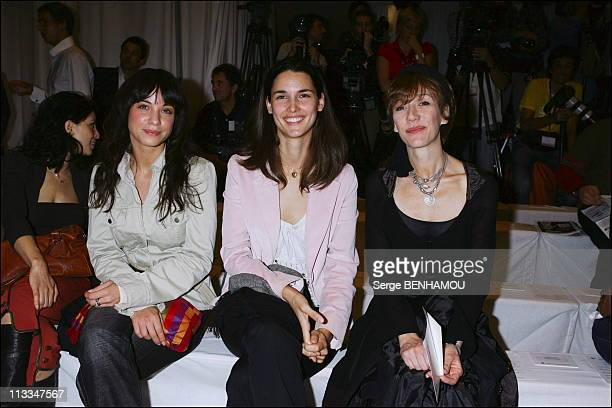 Celebs At JeanLouis Scherrer Ready To Wear SpringSummer2007 Fashion Show In Paris On October 3Rd 2006 In Paris France Here AnneGaelle Riccio...
