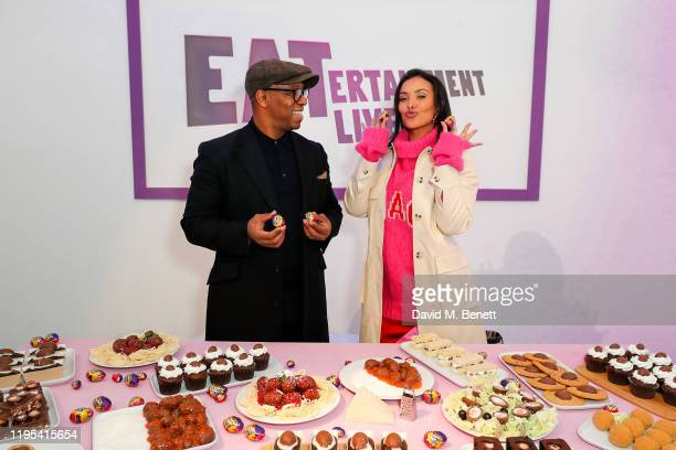 Celeggbrity attendance Ian Wright and Maya Jama spotted at the launch of the Cadbury Creme Egg EATertainment Live on January 23 2020 in London England