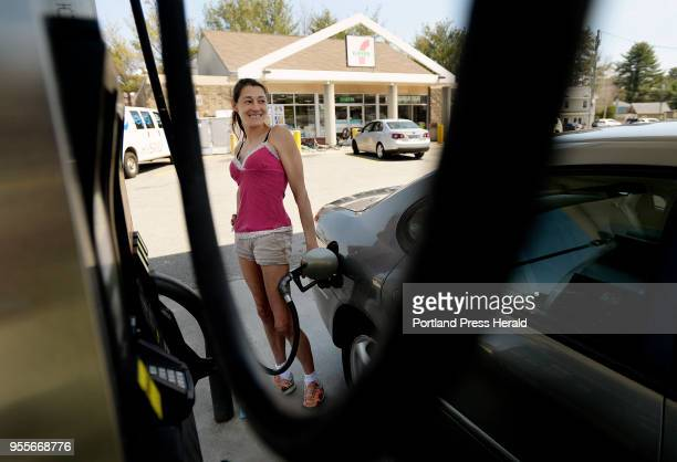 Celena Smith of Old Orchard Beach pumps gas at 7 Eleven in Old Orchard Beach Wednesday May 2 2018