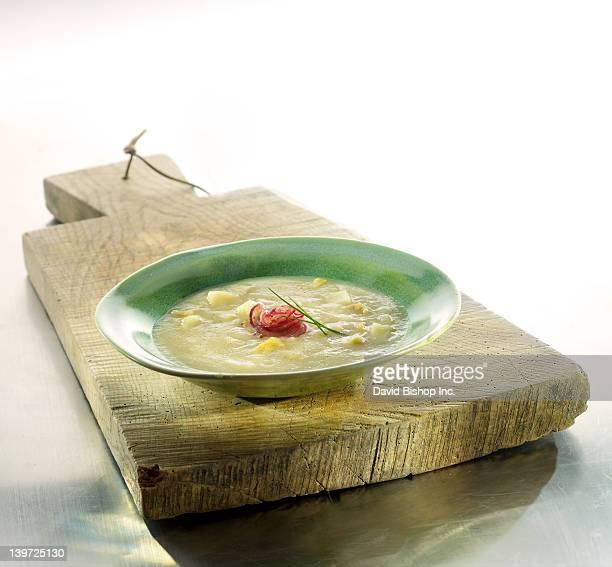 celeriac pear soup - celeriac stock photos and pictures
