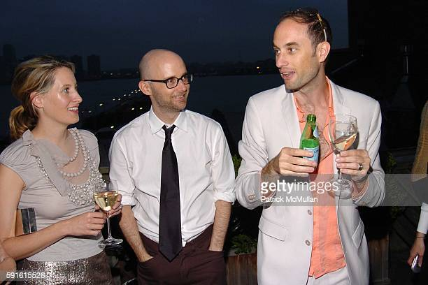 Celerie Kemble Moby and Andrew Boose attend Amendorg Founders' Dinner at Hunt Slonem Studio on June 30 2005 in New York City