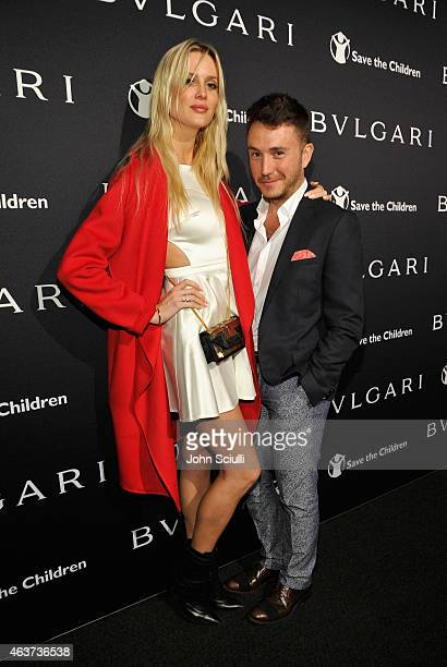 Celesta Hodge and Ennis Kamcili attend BVLGARI and Save The Children STOP THINK GIVE PreOscar Event at Spago on February 17 2015 in Beverly Hills...