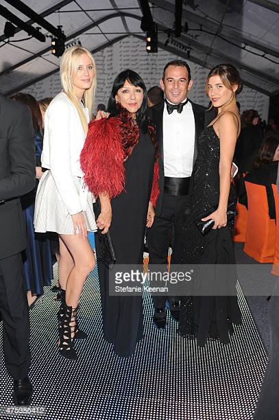 Celesta Hodge Esthella Provas Eugenio Lopez and Michelle Sallas attend the 2015 MOCA Gala presented by Louis Vuitton at The Geffen Contemporary at...