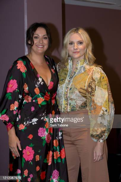 Celeste Barber and Laura Brown attends the Australian Fashion Summit during Melbourne Fashion Festival on March 13 2020 in Melbourne Australia