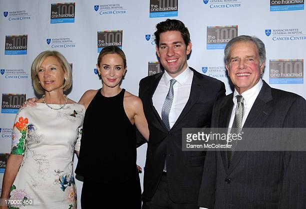 Celeste Damon Emily Blunt host John Krasinski and Ken Damon attend MGH Cancer Center's one hundred gala at Westin Boston Waterfront Hotel on June 5...