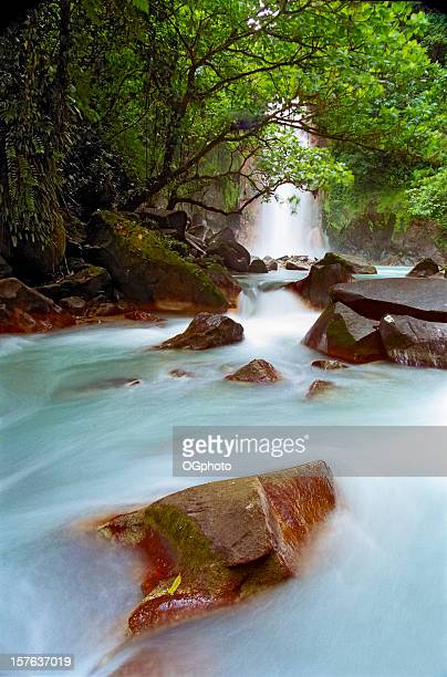celeste falls, costa rica - ogphoto stock photos and pictures