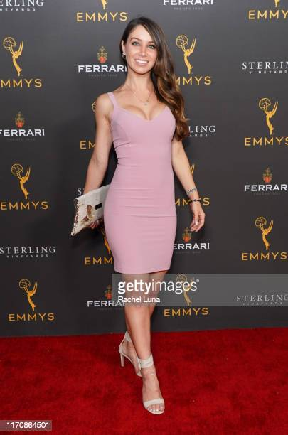 Celeste Fianna attends the Television Academy Daytime Programming Cocktail Reception at Television Academy's Wolf Theatre at the Saban Media Center...
