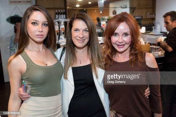Celeste Fianna Wendy Riche Jacklyn Zeman attend 'The Bay' Cast Host Fan Appreciation Event on July 27 2018 in Glendale California