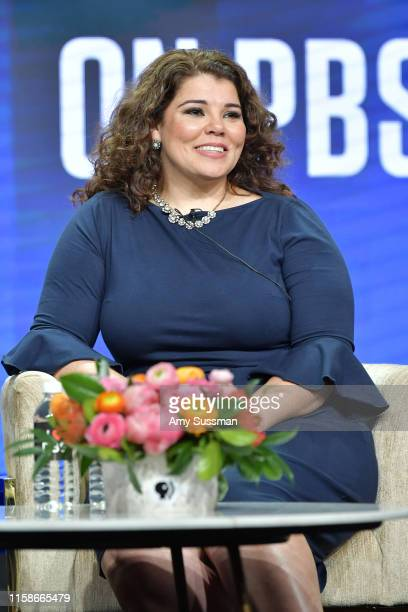 Celeste Headlee of Retro Report speaks during the 2019 Summer TCA press tour at The Beverly Hilton Hotel on July 30 2019 in Beverly Hills California