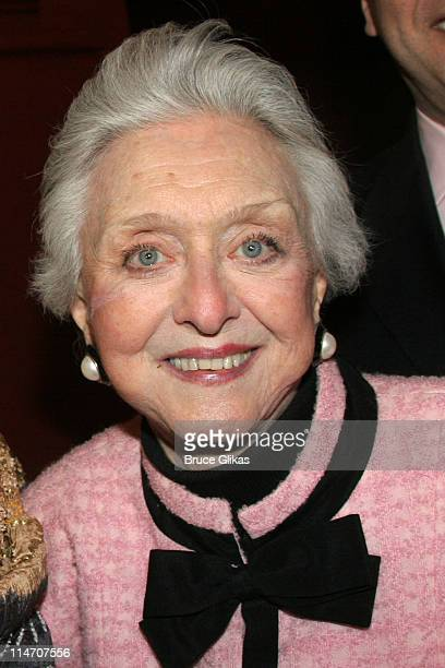 Celeste Holm during Sarah Jones' Bridge and Tunnel Broadway Opening Night Arrivals at Helen Hayes Theatre in New York City New York United States