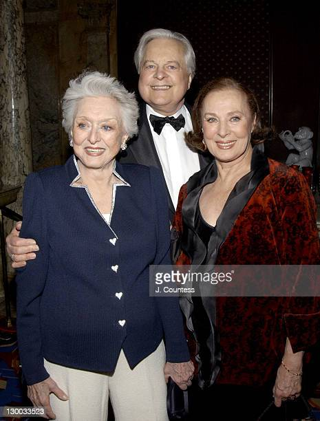 Celeste Holm Robert Osborne and Rita Gam during The Academy of Motion Picture Arts Sciences 2004 Oscar Night Party at Le Cirque 2000 in New York City...