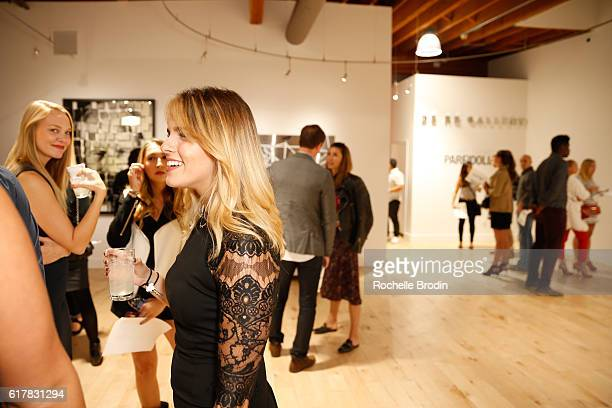 Celeste Petronko and Rachel Cole attend art exhibtion Pareidolia at De Re Gallery on October 22 2016 in West Hollywood California