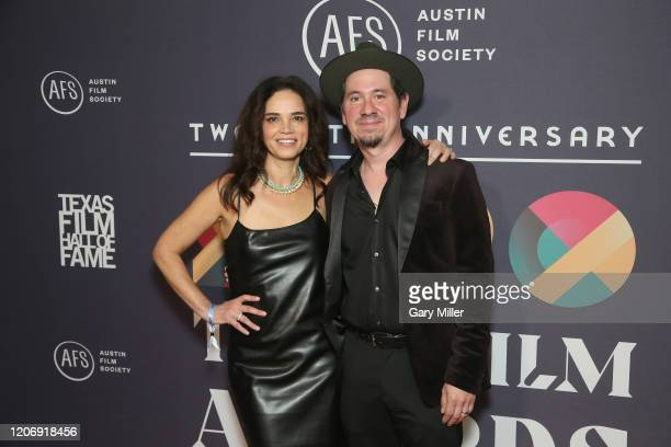 Celeste Quisada and Adrian Quisada attend the Austin Film Society's 20th annual Texas Film Awards at Creative Media Center at Austin Studios on March...