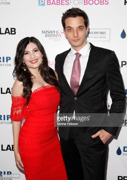 Celeste Thorson and her husband attend the Babes for Boobs live auction benefiting Susan G Komen LA at El Rey Theatre on June 7 2018 in Los Angeles...