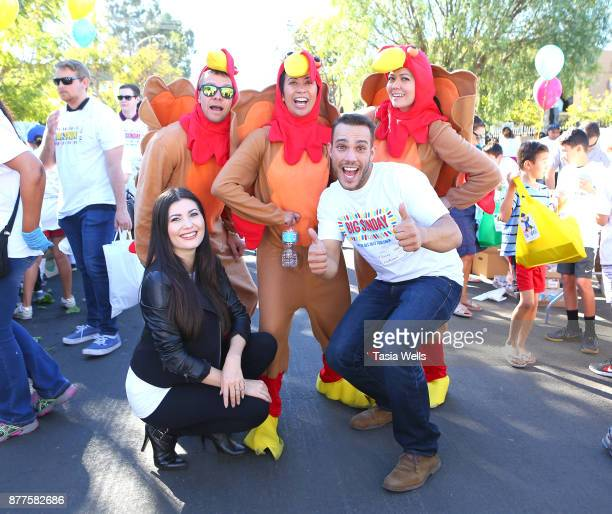 Celeste Thorson and Lucas Lockwood at Big Sunday's 6th Annual BIG Thanksgiving Stuffing Event at Big Sunday Headquarters on November 22 2017 in Los...