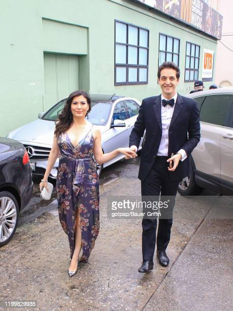 Celeste Thorson and Nicola Geretti are seen on February 09, 2020 in Los Angeles, California.