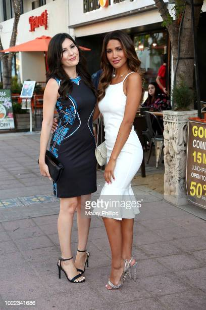 Celeste Thorson andCJ Franco attends the screening of Art of Deception at Landmark Regent on August 23 2018 in Los Angeles California