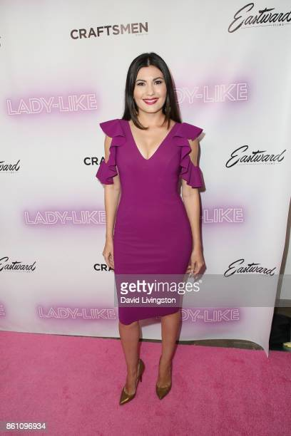Celeste Thorson arrives at the Premiere of Craftsmen Media Co's LadyLike at the Academy Of Motion Picture Arts And Sciences on October 13 2017 in Los...