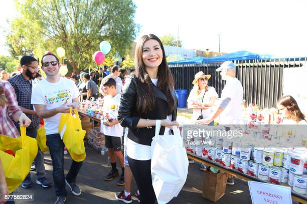 Celeste Thorson at Big Sunday's 6th Annual BIG Thanksgiving Stuffing Event at Big Sunday Headquarters on November 22 2017 in Los Angeles California