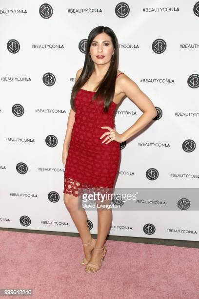 Celeste Thorson attends the Beautycon Festival LA 2018 at the Los Angeles Convention Center on July 15 2018 in Los Angeles California