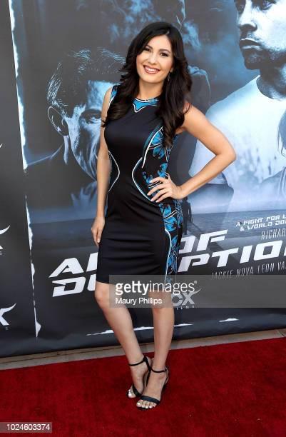 Celeste Thorson attends the screening of Art of Deception at Landmark Regent on August 23 2018 in Los Angeles California