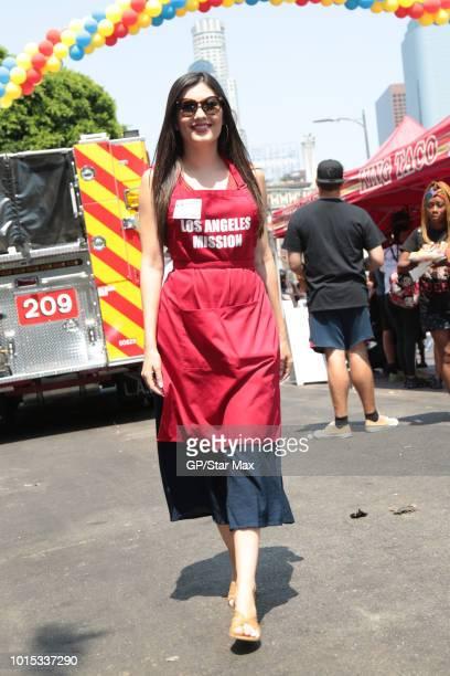 Celeste Thorson is seen on August 11 2018 in Los Angeles CA