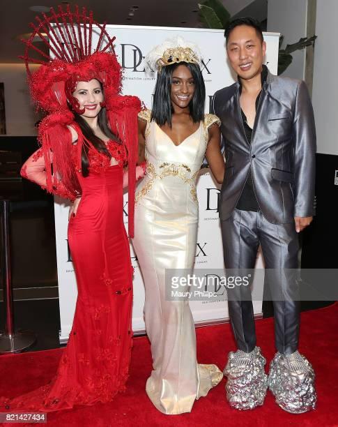 Celeste Thorson Sophia Morris and David Christopher Lee attend the Art Deco Surrealist Jazz Ball In celebration of David Christopher Lee and Celeste...