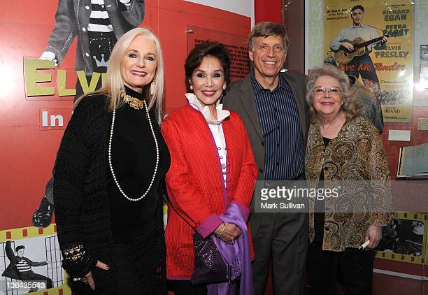 Celeste Yarnall Mary Ann Mobley executive director of the GRAMMY Museum Robert Santelli and Jan Shepard pose in The GRAMMY Museum before Elvis At The...