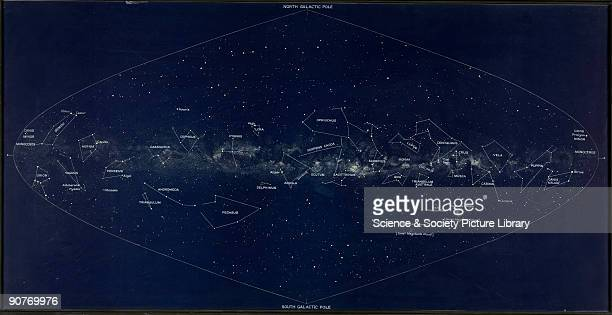 Celestial map made under the supervision Knut Lunkmark of the Lund Observatory Sweden during the 1930s It shows the stars plotted with respect to our...