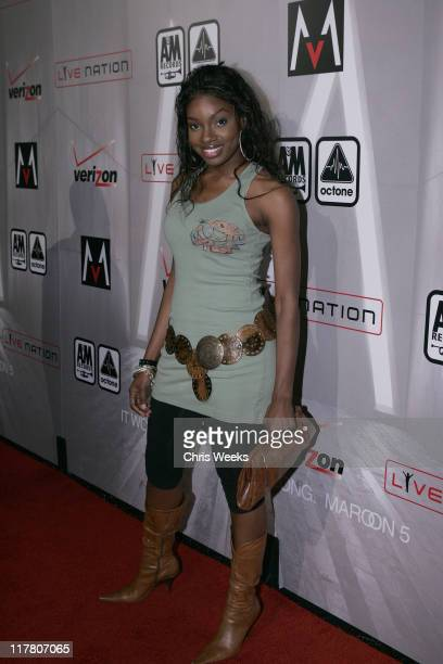 """Celestina during Maroon 5 """"It Won't Be Soon Before Long"""" Album Release Party at The Lot in West Hollywood, California, United States."""