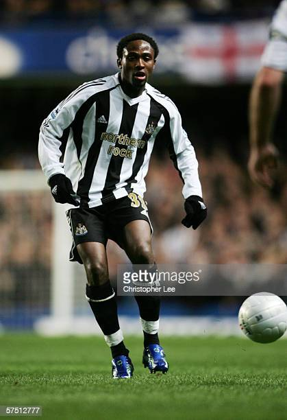 ENGLAND Celestine Babayaro of Newcastle United during the FA Cup Quarter Final match between Chelsea and Newcastle United at Stamford Bridge on March...