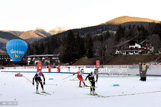 Celia Aymonier of France competes during the FIS CrossCountry World Cup Men's and Women's Pursuit on January 08 2015 in Toblach Italy
