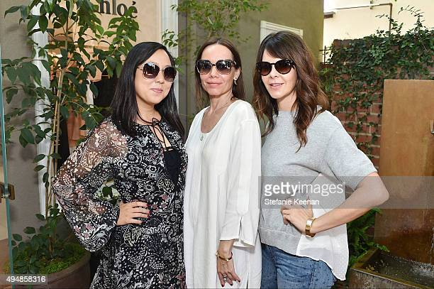 Celia Chen Jessica Robin Trent and Kelly Lamb attend Chloe W Magazine And MOCA Private Shopping Event on October 29 2015 in Los Angeles California