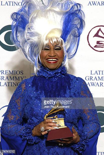 Celia Cruz at the Kodak Theatre in Hollywood, California