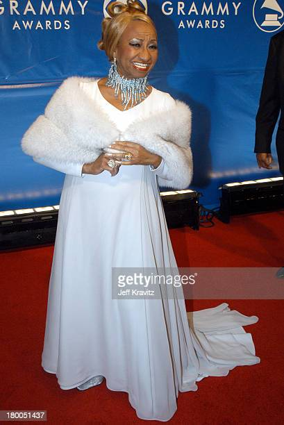 Celia Cruz during The 45th Annual GRAMMY Awards Arrivals at Madison Square Garden in New York NY United States
