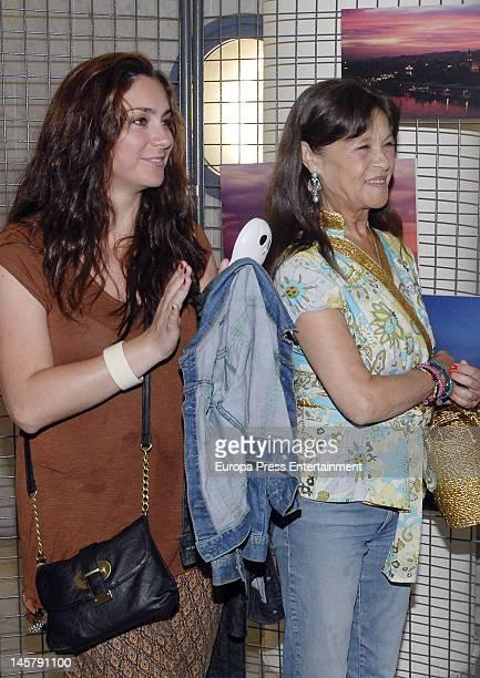 Celia Flores and Pepa Flores attend Maria Esteve's picture exhibition 'De Malaga Al Cielo'. Her daughters Celia Flores and Tamara Flores also attend...