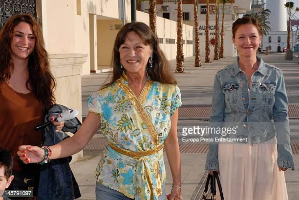 Celia Flores, Pepa Flores and Maria Esteve attend Maria Esteve's picture exhibition 'De Malaga Al Cielo'. Her daughters Celia Flores and Tamara...